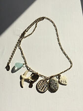 Armani Exchange A/X Gold Tone Charms Necklace