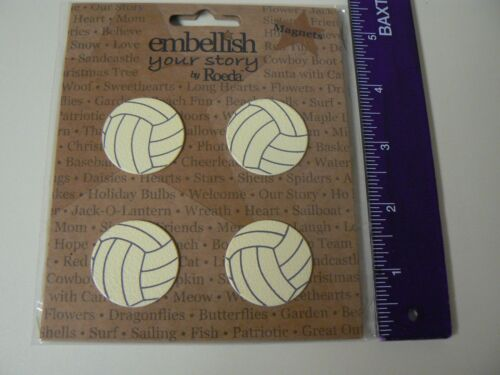 Embellish Your Story Magnets VOLLEYBALL SET OF 4 Volleyball Picture Holder NEW