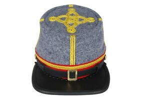Core Plus American Civil War Artillery Leather Peak Captains Kepi
