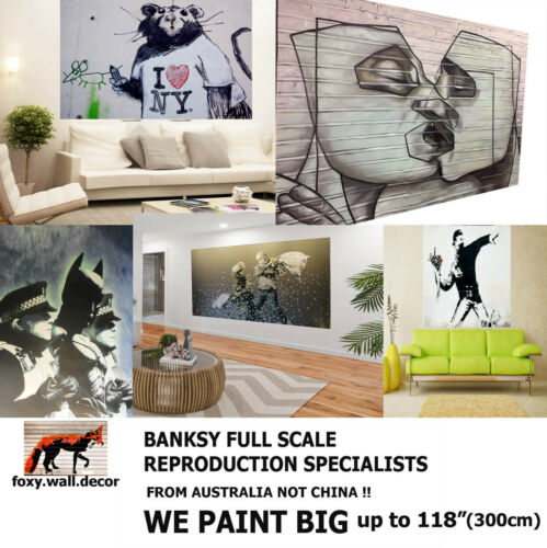 street art painting print Canvas Quality graffiti large banksy andy baker A1