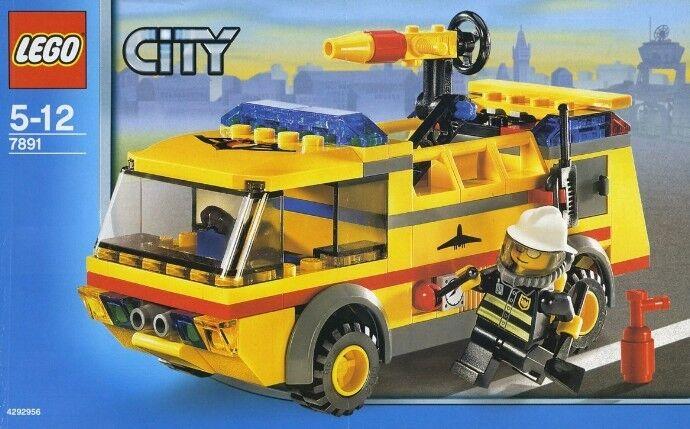 Lego Town City Aeropuerto 7891 Camión de Bomberos Nuevo Sellado