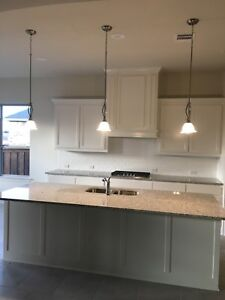 Details About Set Of 3 Frosted Gl Kitchen Bar Island Pendant Lights Brushed Nickel