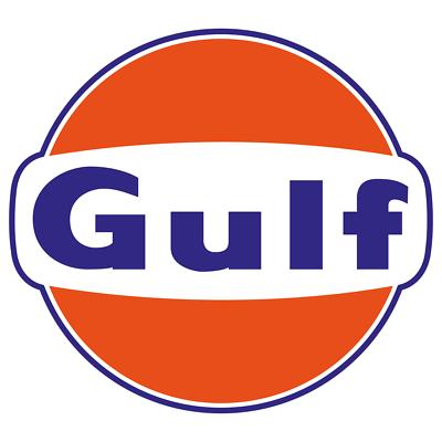 Gulf Vintage Style Vinyl Sticker Car Truck Decal Gasoline Petroleum Racing Gas