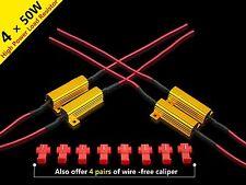 4Pcs 50W 6ohm LED Load Resistors Error Free For Hyper Flash, Turn Signal Blinker