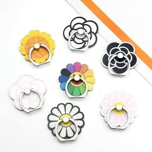 Cute-Sunflower-Finger-Ring-Stand-Phone-360-Grip-Holder-Mount-For-iPhone-Samsung