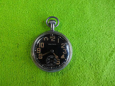 POCKET WATCH WALTHAM MILITARY WORKING
