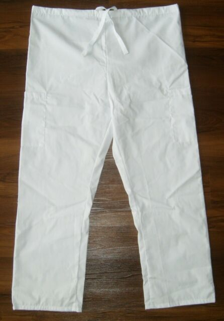 81ad1e072fd New L FASHION SEAL HEALTHCARE Drawstring CARGO Scrub Pants White Scrubs Dr  Nurse