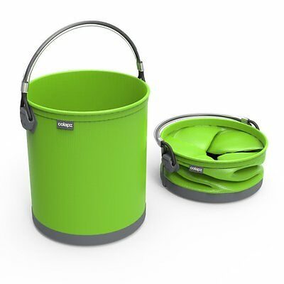 Colapz Collapsible 10L Bucket Gardening Outdoor Pail Lime Travel Camping Boating