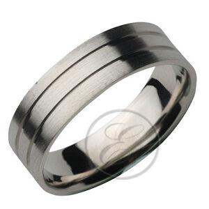 6mm Palladium Designed Flat Court Wedding ring Band KZ eBay