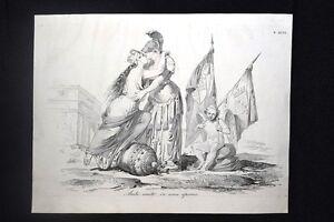Incisione-d-039-allegoria-e-satira-Bologna-e-Roma-Don-Pirlone-1851