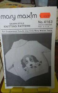 Vtg-Mary-Maxim-knitting-pattern-4163-Puppy-cardigan-childs-sz-2-6