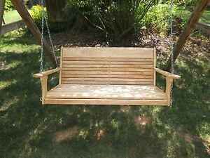 Natural Cypress Wood Porch Tree Swing ,for the Larger ...