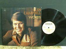 GLEN CAMPBELL  Words   LP   UK original Ember label   GREAT!