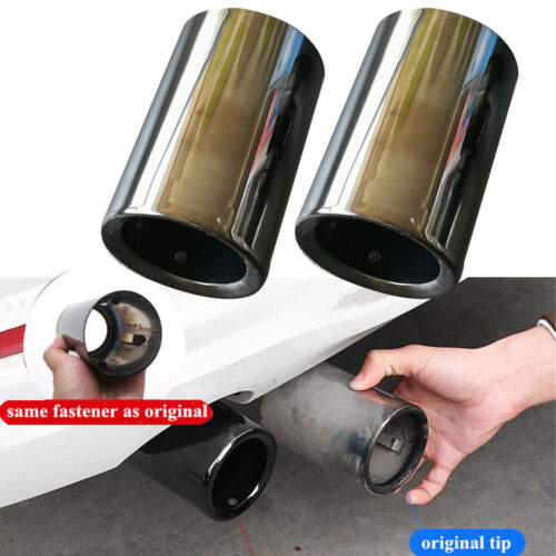 Titanium Black Exhaust Tip Muffler Stainless Steel For BMW F10 F18 520i 523i 525