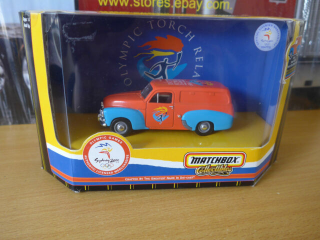Matchbox 1956 Holden Fj Ute panel van Sydney 2000 Olympic torch relay model
