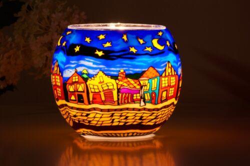 Leuchtglas 630 Street by Night Ø11cm Dekoration Teelicht Windlicht Kerzenfarm