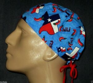 STATE-OF-TEXAS-amp-HOT-CHILI-PEPPERS-SCRUB-HAT-FREE-CUSTOM-SIZING
