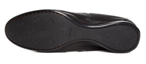 37 Leombruni Attilio 1224 Leather Black Flats Slip 5 Giusti On Eur Sz Women's g57qrz5