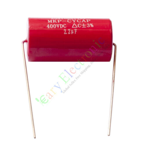 100pc MKP 400V 2.2uf Red long copper leads Axial Electrolytic Capacitor audio am