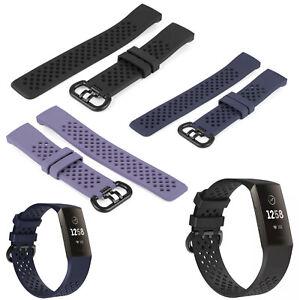 Ersatz Armband für Fitbit Charge 3 Fitness Sport Tracker Smartwatch Silikon