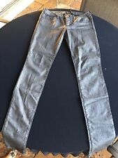 GUESS Jeans Stretch Silver Power Skinny Denim Blue Pants Distressed 29x31