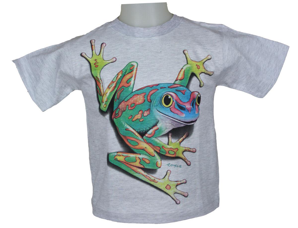 WESTERN-SPEICHER Children T-Shirt Cotton Print Frog Grey Size 86 To 104