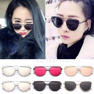 Retro-Women-039-s-Gold-Cat-Eye-Sunglasses-Classic-Retro-Designer-Vintage-Sunglasses