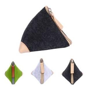 Durable-Handmade-Wool-Coin-Purse-Key-Pouch-Triangle-Bag-Felt-Wallet