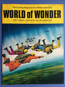 World Of Wonder - No.105 - 25th Mars 1972 -le Excitant Magazine Pour Garçons