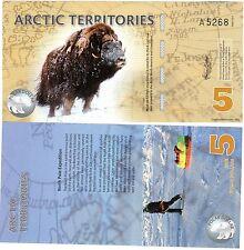 Arctic TERRITOIRES Billet 5 POLAR 2012 POLYMER  UNC NEUF