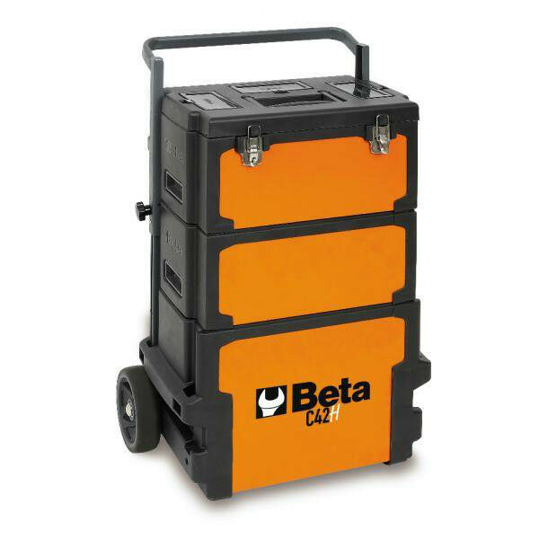 beta tools c42h three-module tool trolley toolbox mobile work chest ...