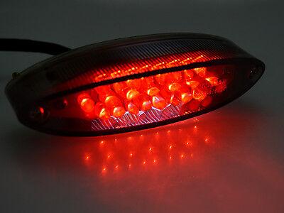 Universal Motorcycle Bike ATV 28 LED Tail Brake Stop License Plate Light Smoke