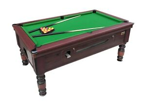 BRAND NEW Ft Xft ROSETTA TRADITIONAL POOL TABLE SLATE BED COIN OP - Pool table slate size