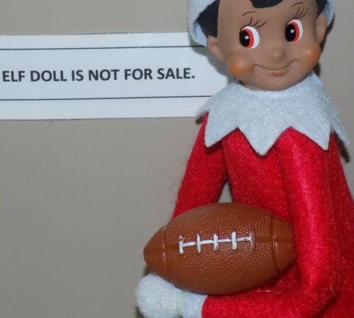 CHRISTMAS ELF PROPS SPORTY FOOTBALL SANTA ON THE SHELF GAMES TOYS BALL ACCESSORY
