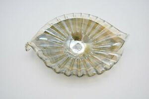 Vintage-Murano-Style-Glass-Seashell-Scalloped-Shell-Candy-Dish-Blown-Art-Fan