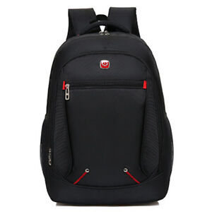 12e1c965f381 Men Nylon Black Backpacks Waterproof Back Pack 15.6 Inch Laptop ...