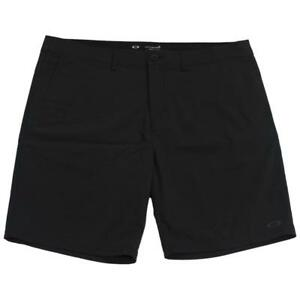 Oakley-Eris-Shorts-Mens-Size-32-M-Medium-Black-Casual-Dress-Stretch-Walkshorts
