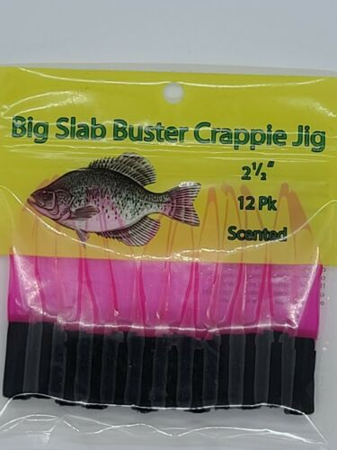 Details about  /Slab Buster Crappie Jig 2.5 inch Black Hot Pink BS0364