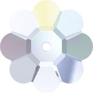 3 Pietra in Cristallo MARGHERITA da cucire a 1 foro - mm 10 CRYSTAL AB 9PzPFRBu-09102755-962301325