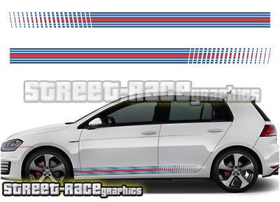 VW Volkswagen Scirocco Racing Rayas 002 Pegatinas Calcomanías Gráficos