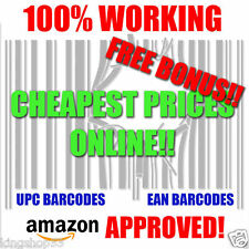 500 - UPC/EAN Codes Certified Bar Code For Listing On any eCommerce Marketplace