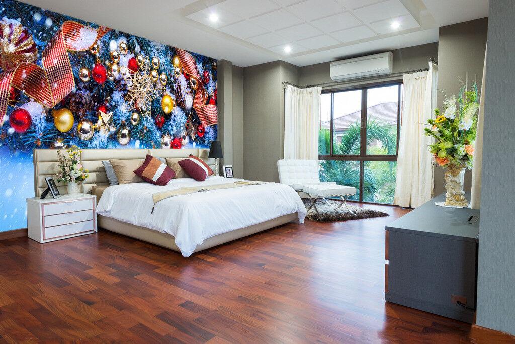3D Christmas Bells 78 Wall Paper Murals Wall Print Wall Wallpaper Mural AU Kyra