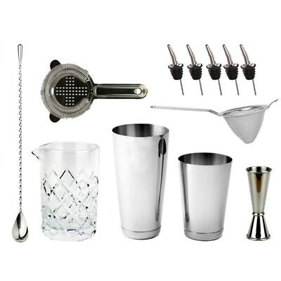 NEW Bartender's Bar Kit with Boston Shaker & Toby Tin - Bar Set Cocktails Drinks