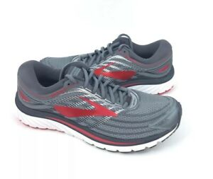 02269db5929 NEW Brooks Glycerin 15 Road Running Shoes Sneakers Primer Gray Red ...