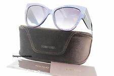 TOM FORD Anoushka TF 371 82W Blue/Violet Cateye Sunglasses NWT AUTH FT 0371