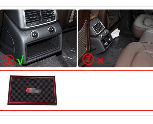 14PCS Skidproof Gate Door Slot Pad Cup Holder Mat Rubber For Audi Q7