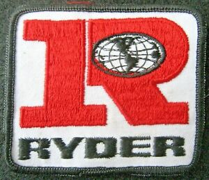RYDER-EMBROIDERED-SEW-ON-ONLY-PATCH-TRUCK-GLOBE-LOGO-ADVERTISING-3-1-2-034-x-3-034
