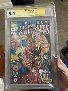 New Mutants 98 CGC 9.4 X3 Signed Lee, Liefeld And Nicieza 1st Deadpool App!