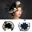 Women Feather Hair Hat Fascinator Headband Clip Wedding Royal Ascot Formal Race