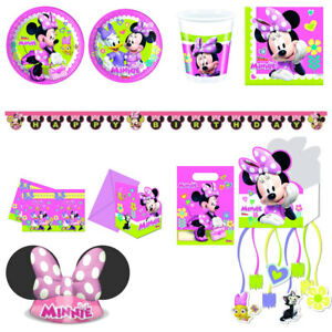 Minnie Maus Kindergeburtstag Deko, Minnie Mouse Partygeschirr Happy ...